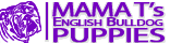 Mama T's English Bulldog Puppies Logo